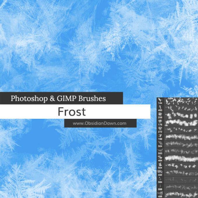 フォトショップ ブラシ Photoshop Ice Brush 無料 イラスト 氷 アイス  Frost Texture Photoshop and GIMP Brushes