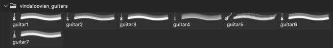 フォトショップ ブラシ Photoshop Guitar Brush 無料 イラスト ギター Guitar brushes