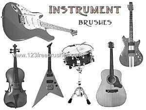 フォトショップ ブラシ Photoshop Guitar Brush 無料 イラスト ギターGuitar Instruments
