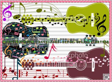 フォトショップ ブラシ Photoshop Music Note Brush 無料 イラスト 音楽  音符 楽譜 譜面 guitar music