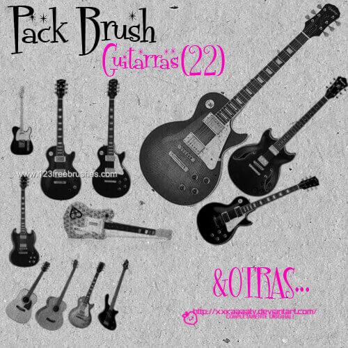フォトショップ ブラシ Photoshop Guitar Brush 無料 イラスト ギターGuitar 13
