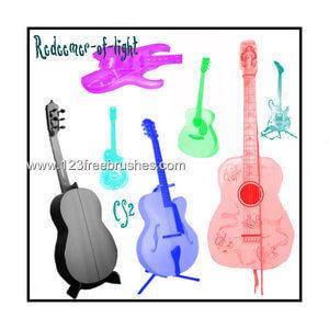 フォトショップ ブラシ Photoshop Guitar Brush 無料 イラスト ギターGuitar 07