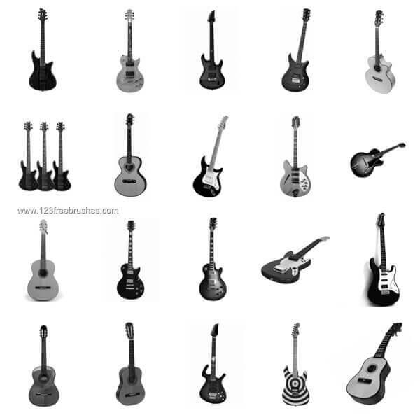 フォトショップ ブラシ Photoshop Guitar Brush 無料 イラスト ギターGuitar