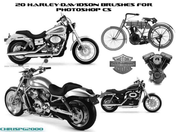 フォトショップ ブラシ Photoshop Bike Brush 無料 イラスト バイク Motorcycle Brushes Set 5