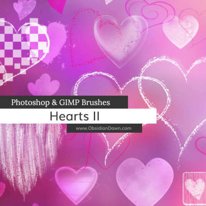 フォトショップ ブラシ 無料 ハート Photoshop Heart Brush Free abr Hearts II Photoshop and GIMP Brushes