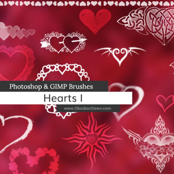 フォトショップ ブラシ 無料 ハート Photoshop Heart Brush Free abr Hearts Photoshop and GIMP Brushes