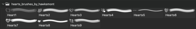 フォトショップ ブラシ 無料 ハート Photoshop Heart Brush Free abr Hearts By Hawksmont
