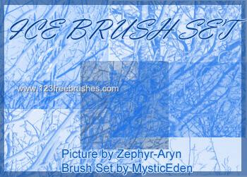 フォトショップ ブラシ Photoshop Ice Frozen Brush 無料 イラスト 氷 アイス Ice