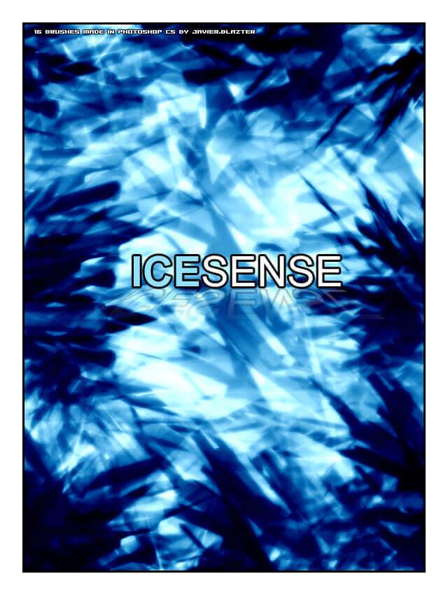 フォトショップ ブラシ Photoshop Ice Frozen Brush 無料 イラスト 氷 アイス Ice sense