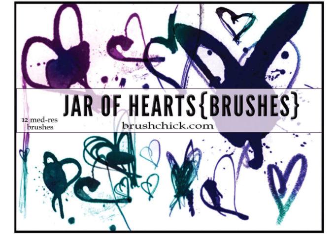 フォトショップ ブラシ 無料 ハート Photoshop Heart Brush Free abr Jar Of Hearts Brush Pack