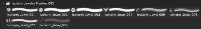 フォトショップ ブラシ Photoshop Jewelry Crystal Brush 無料 イラスト 宝石 ジュエル アクセサリー Jewelry Alphabets Brushes Free