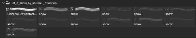 フォトショップ ブラシ Photoshop Snow Brush 無料 イラスト 雪 スノー Let it snow