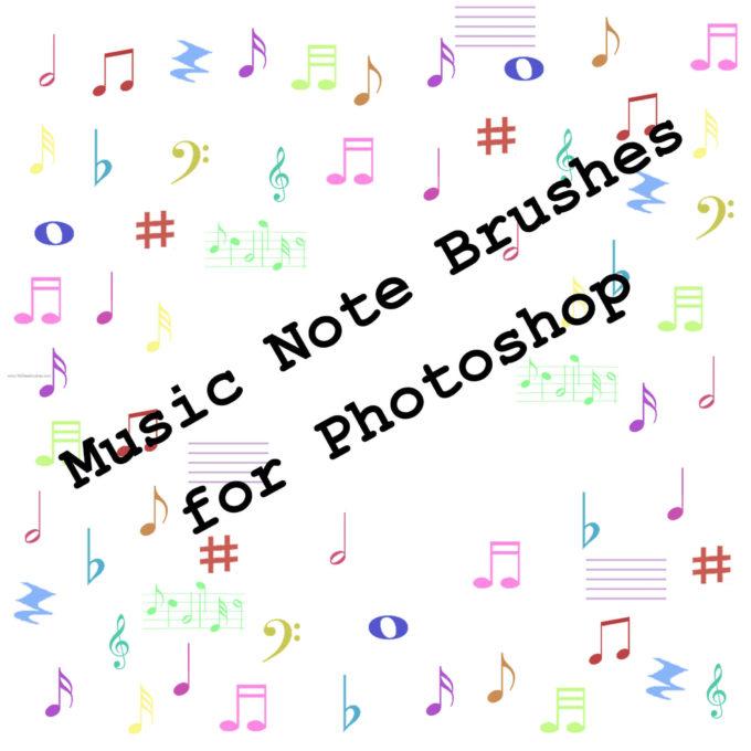フォトショップ ブラシ Photoshop Music Note Brush 無料 イラスト 音楽  音符 楽譜 譜面 Musical Notes 21