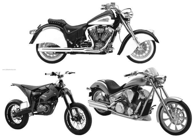 フォトショップ ブラシ Photoshop Bike Brush 無料 イラスト バイク Motorcycle Brush Set 9