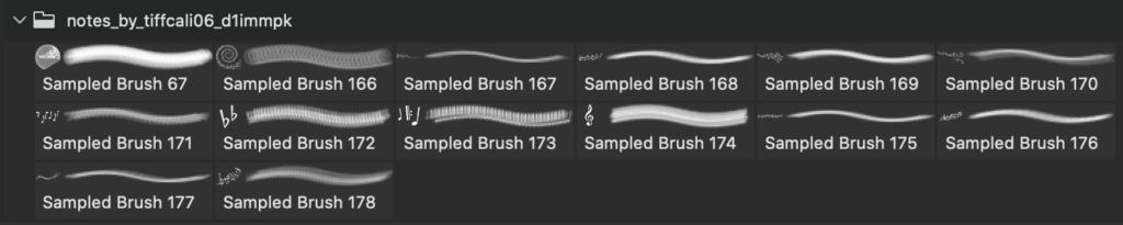 フォトショップ ブラシ Photoshop Music Note Brush 無料 イラスト 音楽  音符 楽譜 譜面 Notes