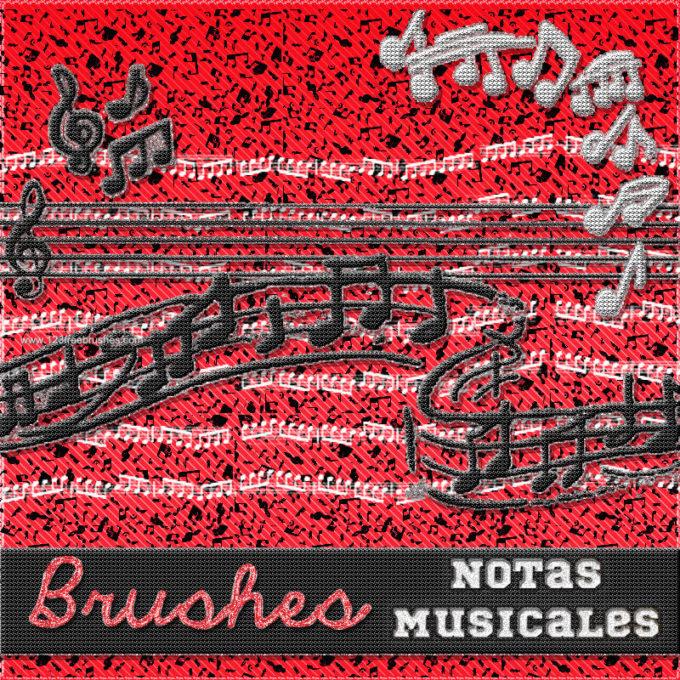 フォトショップ ブラシ Photoshop Music Note Brush 無料 イラスト 音楽  音符 楽譜 譜面 Musical Notes