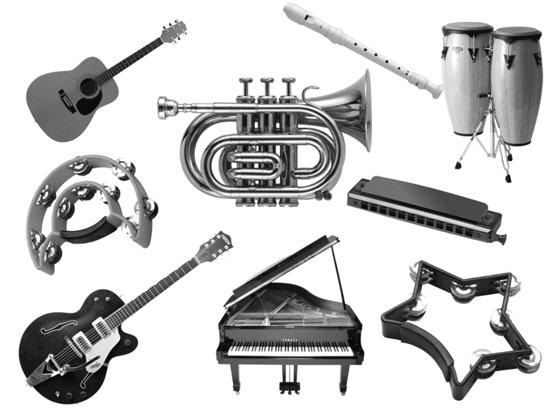 フォトショップ ブラシ Photoshop Musical instrument Brush 無料 イラスト 音楽 楽器 Music brushes