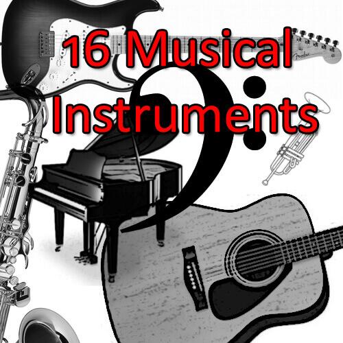 フォトショップ ブラシ Photoshop Musical instrument Brush 無料 イラスト 音楽 楽器 Musical Instrument Brushes