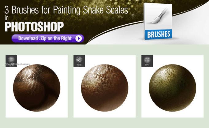 フォトショップ ブラシ Photoshop Snake Brush 無料 イラスト 蛇 ヘビ へび スネーク Painting Snake Scales