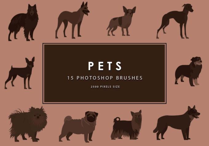 フォトショップ ブラシ Photoshop Dog Brush 無料 イラスト ドッグ 犬 Pets Photoshop Brushes
