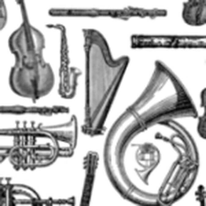 フォトショップ ブラシ Photoshop Musical instrument Brush 無料 イラスト 音楽 楽器 21 Vintage Instrument Brushes