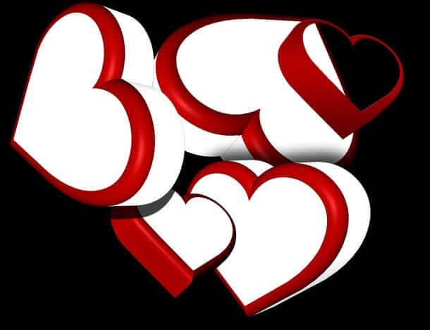 フォトショップ ブラシ 無料 ハート Photoshop Heart Brush Free abr 3D Hearts