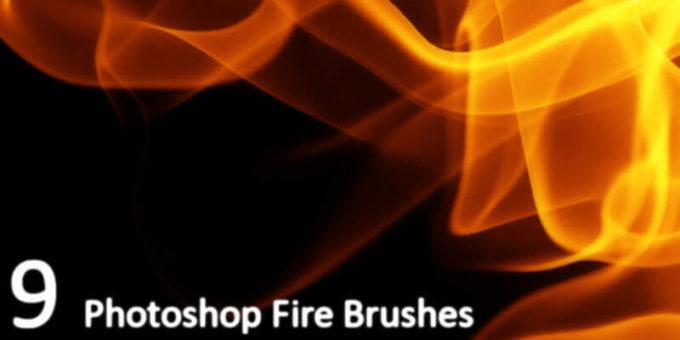 フォトショップ ブラシ Photoshop Fire Brush 無料 イラスト 火 炎 ファイヤー 9 Fire brushes