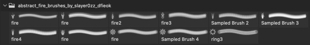 フォトショップ ブラシ Photoshop Fire Brush 無料 イラスト 火 炎 ファイヤー Abstract Fire Brushes