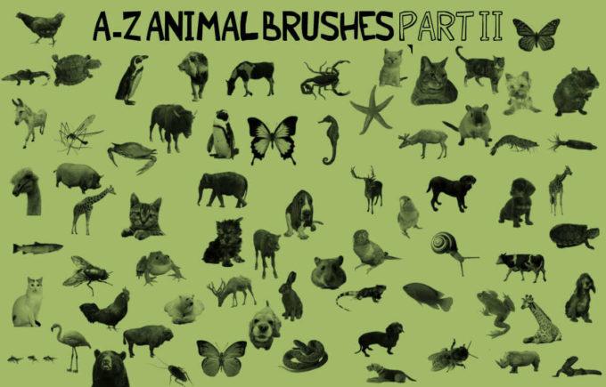 フォトショップ ブラシ Photoshop Animal Brush 無料 イラスト 動物 アニマル A-Z Animal Brushes PART 2