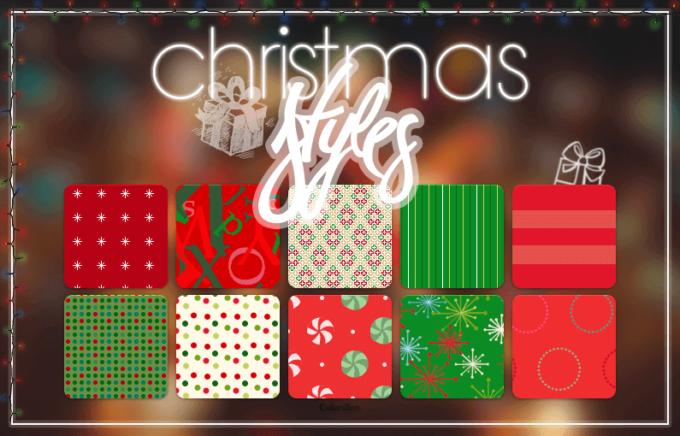 Photoshop Christmas Layer Style フォトショップ クリスマス レイヤースタイル  Christmas Styles || C.