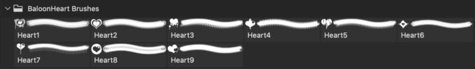 フォトショップ ブラシ 無料 ハート Photoshop Heart Brush Free abr BaloonHeart Brushes