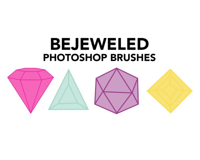 フォトショップ ブラシ Photoshop Glass  Crystal Brush 無料 イラスト ガラス クリスタル BEJEWELED PS GEM BRUSHES