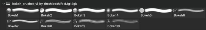 フォトショップ ブラシ Photoshop Brush 無料 イラスト 光 ビーム グリッター スパーク パーティクル Bokeh Brushes VI