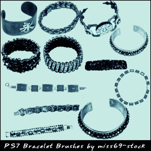 フォトショップ ブラシ Photoshop Jewelry Brush 無料 イラスト 宝石 ブレスレット Bracelet Brushes