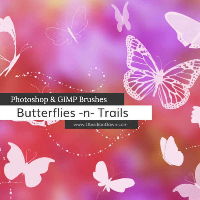 フォトショップ ブラシ Photoshop Butterfly Brush 無料 イラスト 蝶 Butterfly