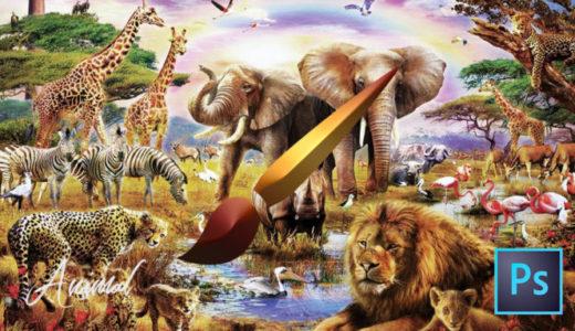 【Photoshop】全て無料!!動物が描けるブラシセット(.abr)