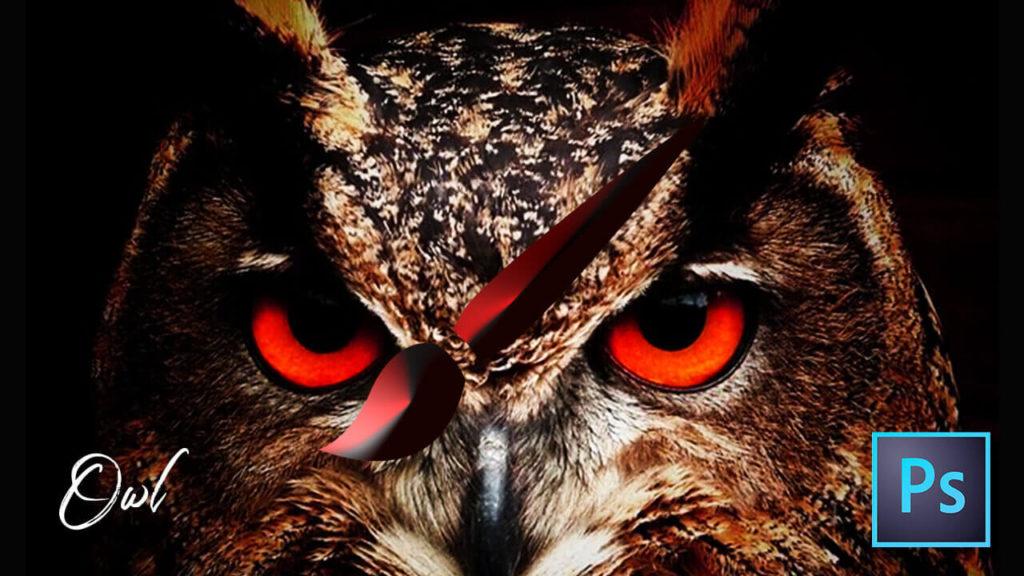 フォトショップ ブラシ 無料 フクロウ Photoshop Owl Brush Free abr