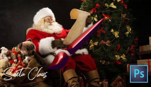 【Photoshop】全て無料!!サンタクロースが描けるブラシセット(.abr)