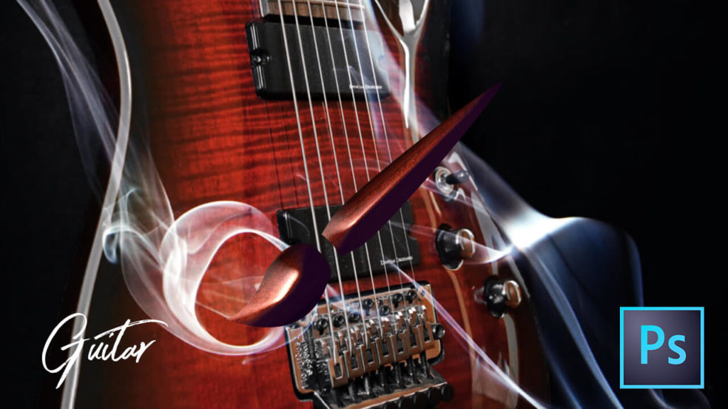 フォトショップ ブラシ Photoshop Guitar Brush 無料 イラスト ギター