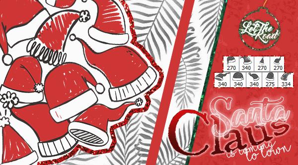 フォトショップ ブラシ 無料 クリスマス サンクロース 帽子 聖夜 Photoshop Santa Claus Hat Brush Free abr BRUSHES and PNGS - Santa Claus Is Coming to Town