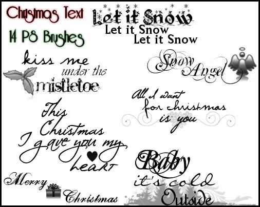 フォトショップ ブラシ 無料 クリスマス ラベル テキスト Photoshop Christmas Label Brush Free abr PS Christmas Text