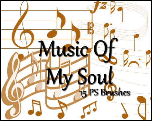 フォトショップ ブラシ Photoshop Music Note Brush 無料 イラスト 音楽  音符 楽譜 譜面 Music Note 11