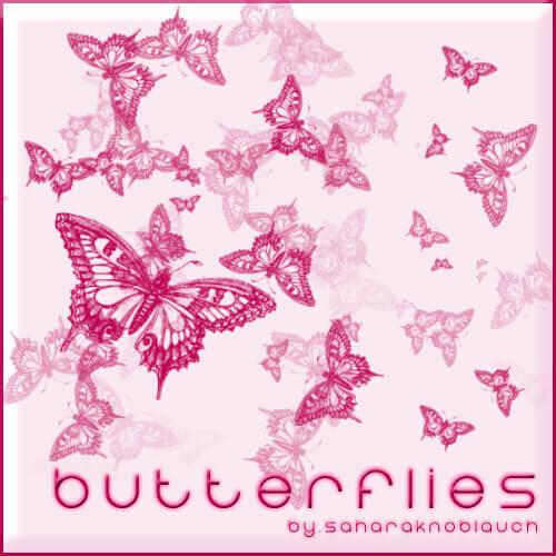 フォトショップ ブラシ Photoshop Butterfly Brush 無料 イラスト 蝶 .:Butterfly Brushes:. EDIT