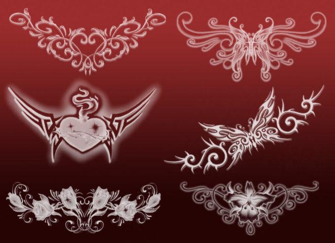 フォトショップ ブラシ Photoshop Butterfly Brush 無料 イラスト 蝶 Butterfly Tattoos