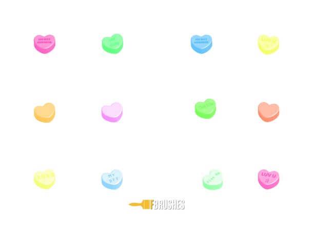 フォトショップ ブラシ 無料 ハート Photoshop Heart Brush Free abr Candy Hearts