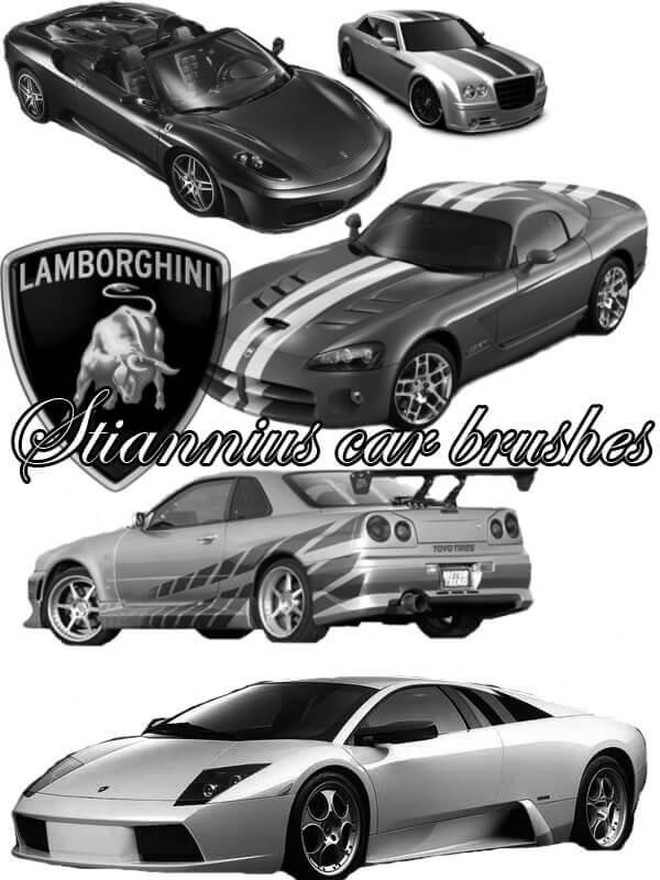 フォトショップ ブラシ Photoshop Car Brush 無料 イラスト 車 カー Car brushes