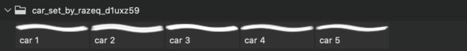 フォトショップ ブラシ Photoshop Car Brush 無料 イラスト 車 カー Car Set