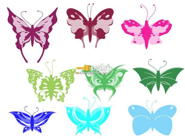 フォトショップ ブラシ Photoshop Butterfly Brush 無料 イラスト 蝶 Cartoon-Butterfly