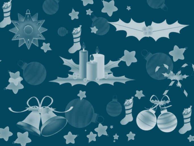 フォトショップ ブラシ 無料 クリスマス サンクロース 聖夜 Photoshop Christmas Brush Free abr New Set of Brushes – Christmas Decorations
