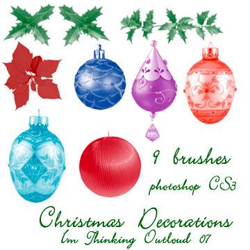 フォトショップ ブラシ 無料 クリスマス オーナメント 飾り 無料 Photoshop Christmas Ornament Brush Free abr Christmas Decorations